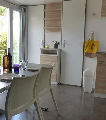 Bandido comfort mobile home rental with air conditioning located in Montpellier